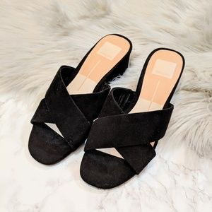 DOLCE VITA Ferne Block Heel Sandal Black Suede